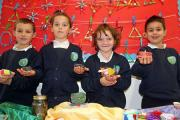 LIGHT THE WAY: Avonwood Primary students with their Diwali candles