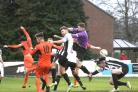 CONGESTION: Action from Wimborne's win over Kidlington (Picture: Steve Harris)
