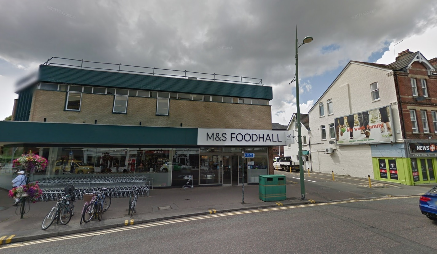 The Marks and Spencer store in Seamoor Road, Westbourne. Picture, Google Maps