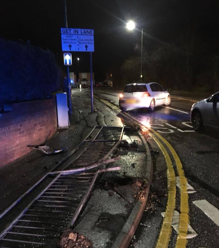 CRASH: Image by Dorset Police No Excuse team