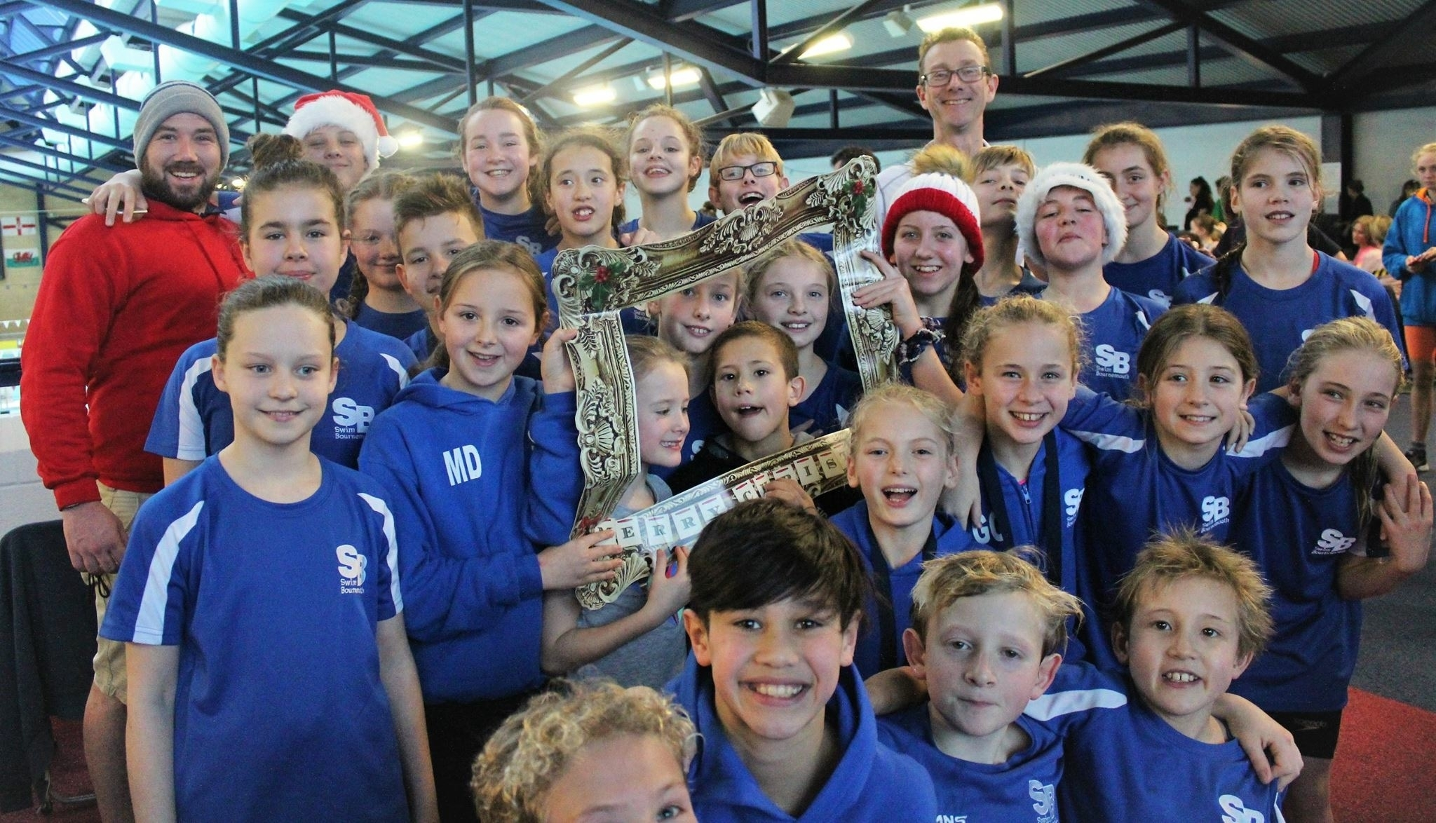 YOU'VE BEEN FRAMED: Swim Bournemouth send seasonal greetings from the Yeovil meet