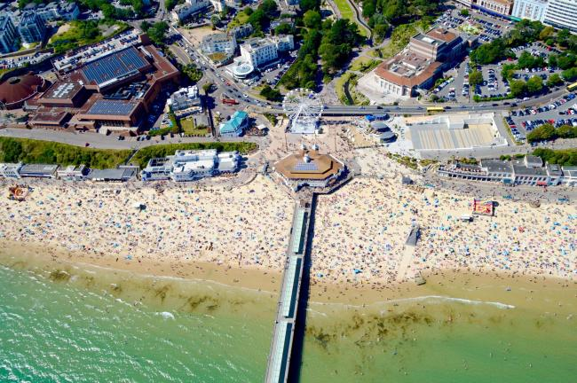Bournemouth seafront. Picture: Stephen Bath.