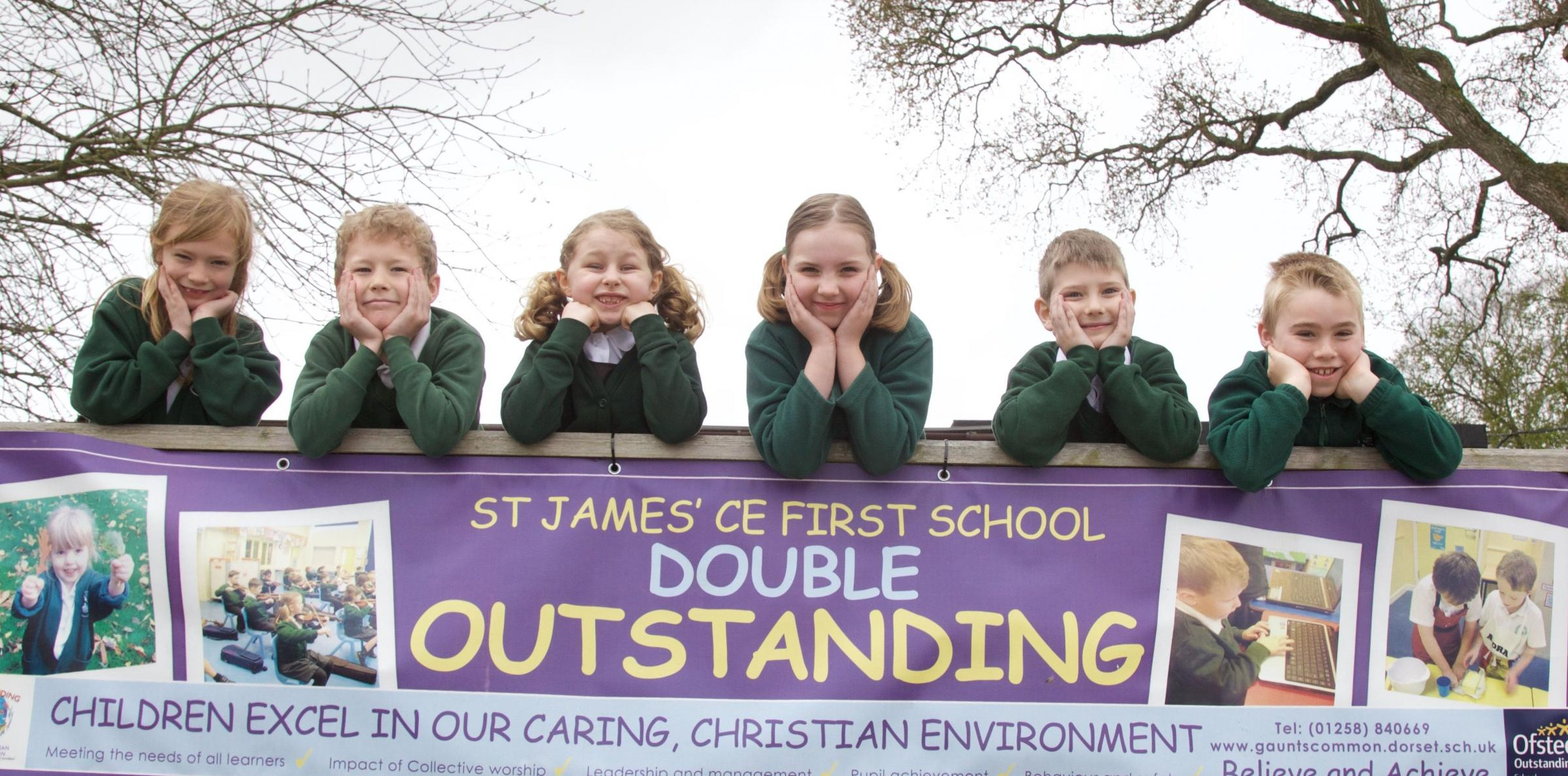 CELEBRATIONS: Staff and pupils at St James' in Gaunts Common are celebrating after being named one of the best schools in the country for phonics