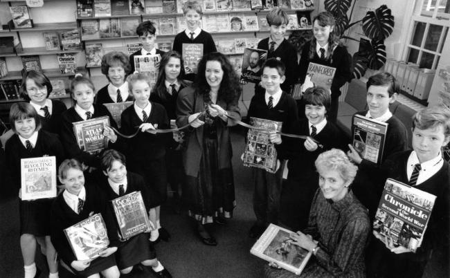 looking back at opening of twynham school s new library in 1990