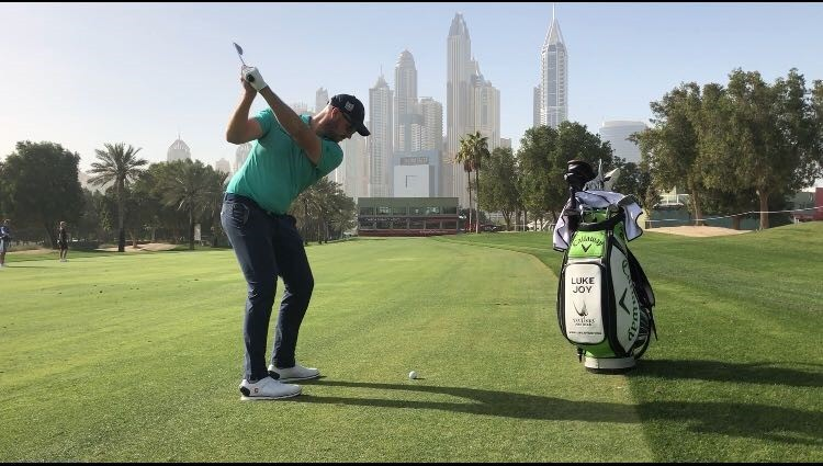IN THE SWING: Luke Joy in action in Dubai