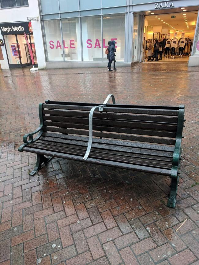 Benches in Bournemouth have been fitted with metal bars to deter rough sleepers