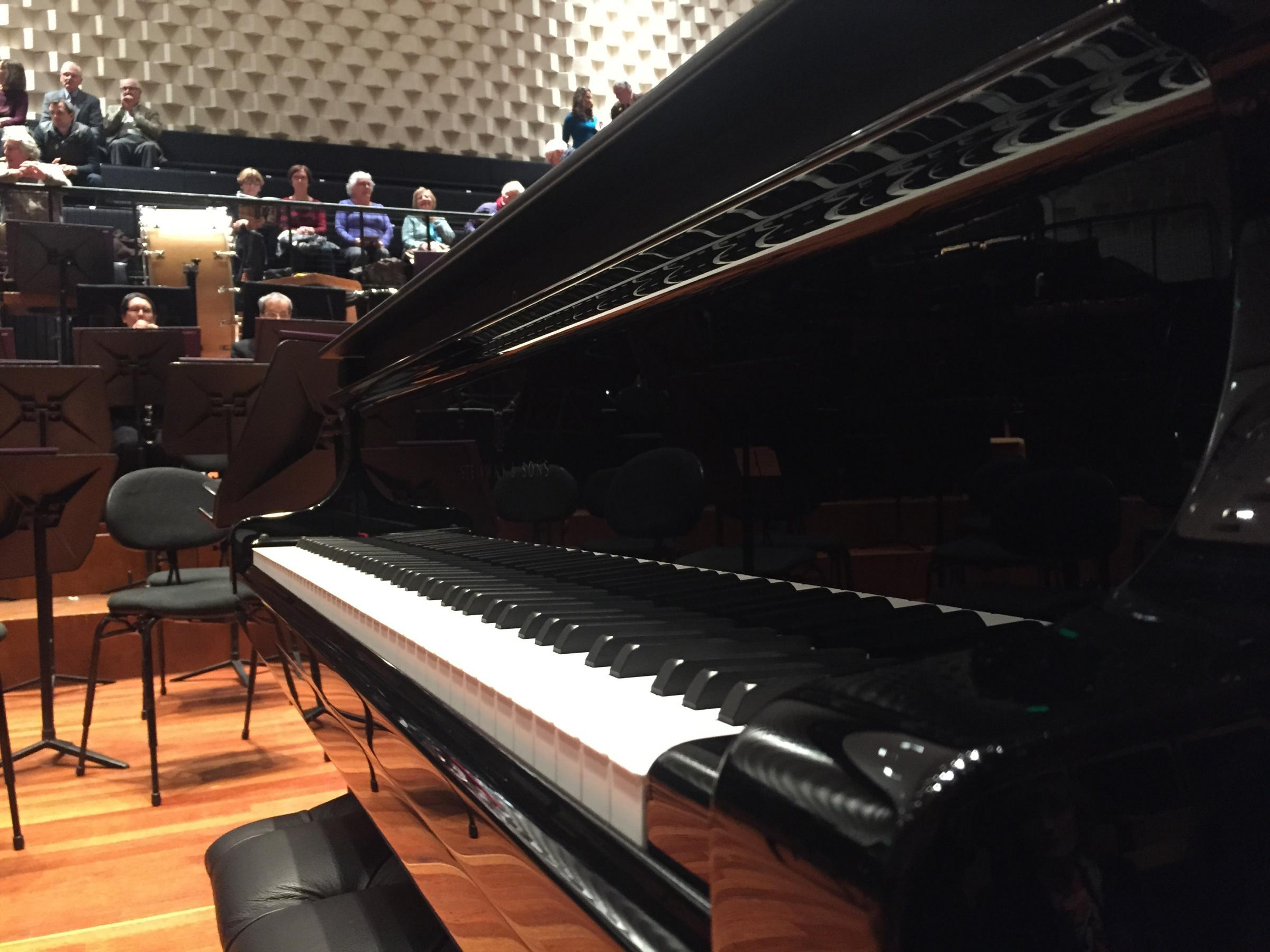 The BSO's new £120,000 Steinway