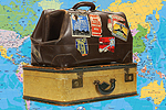 Bournemouth Echo: Suitcases with Map