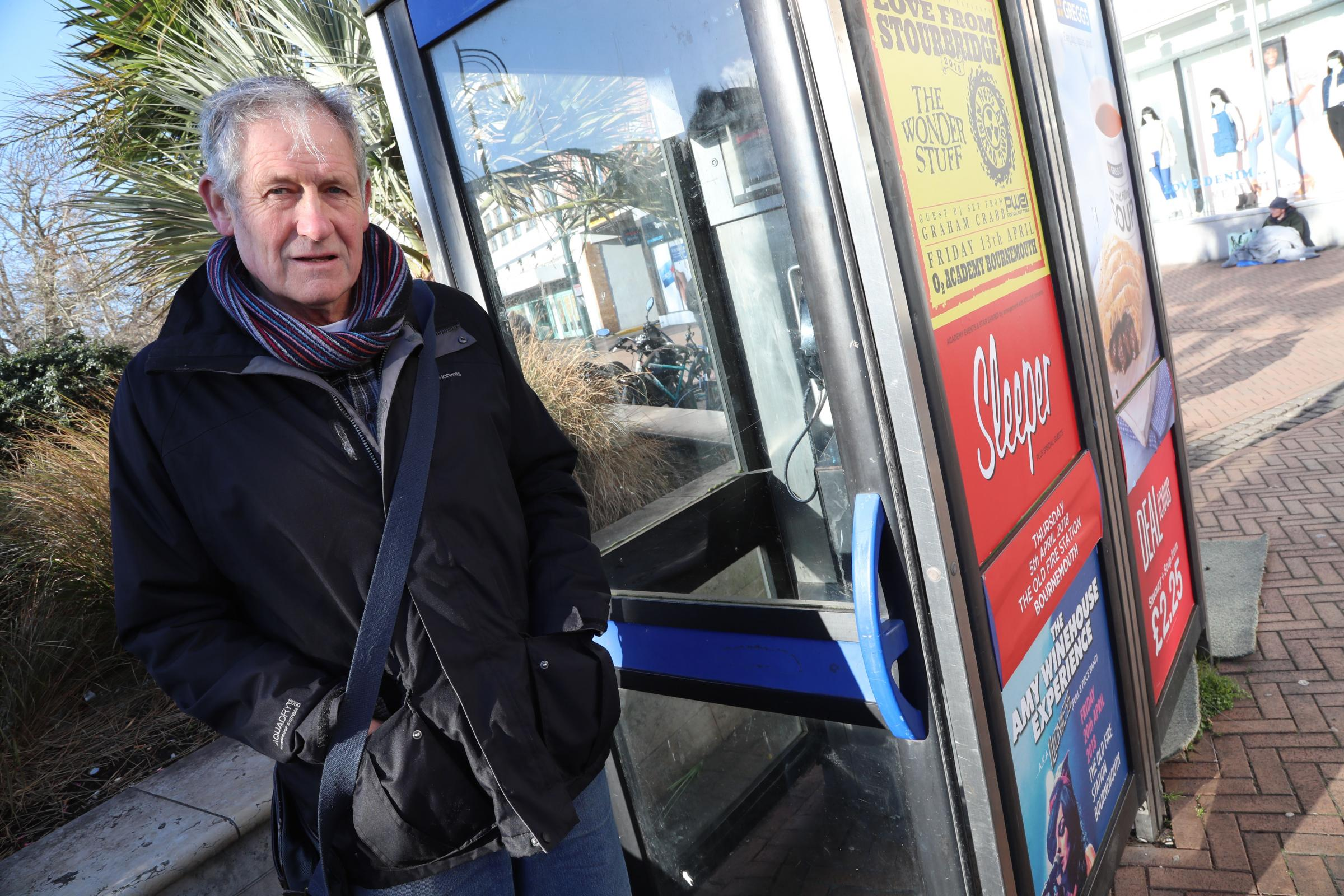 OUT OF ORDER: Dave Smith has represented the town centre for 25 years