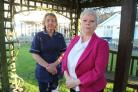 White Rock nursing home manager Karen Harrison and Clinical Manager Sue Long, left, at the home in Barton-on-Sea