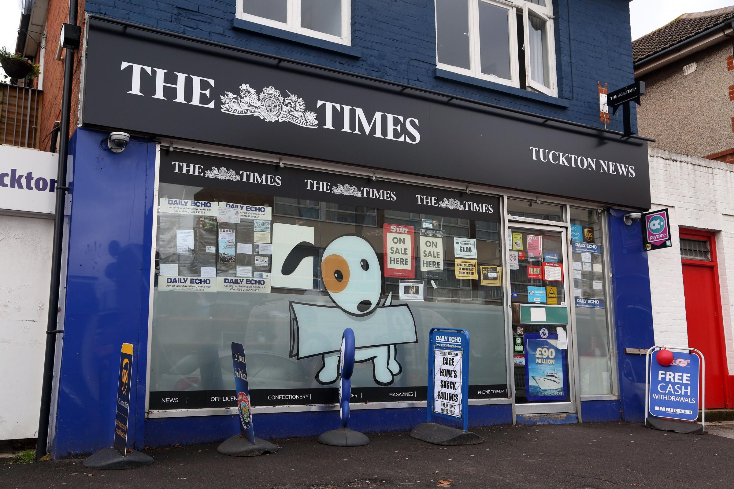 The family-owned Tuckton News in 2011. The business closed after a trusted employee stole £20,000 from the till