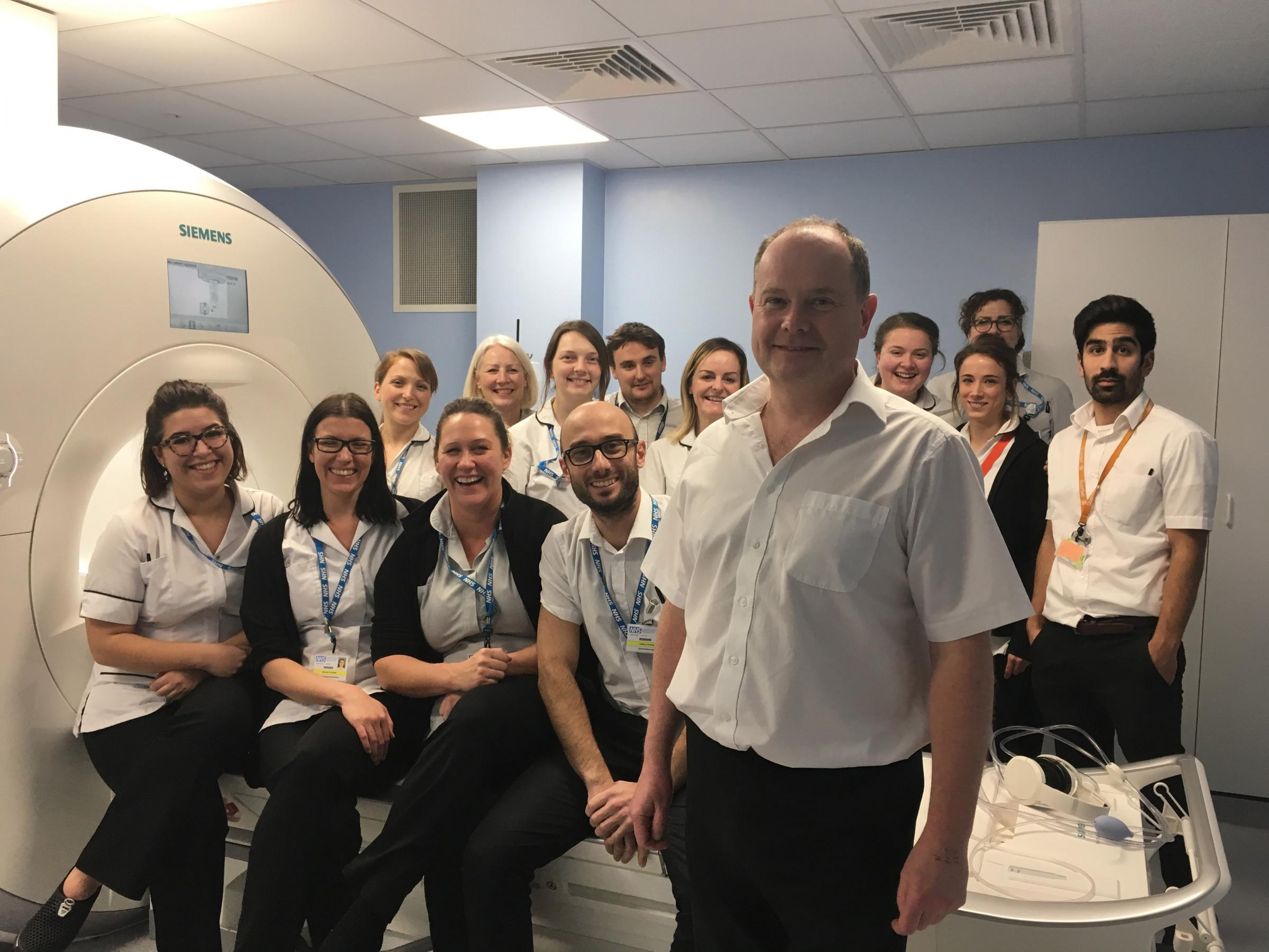 Superintendent Radiographer Matthew Benbow and the Radiography Department team ask the community to help gift their hospital a new Mini MRI Scanner