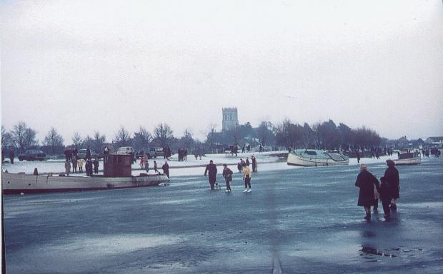 Bournemouth Echo: Christchurch Harbour in the winter of 1963. Image from the Archive Films of Christchurch