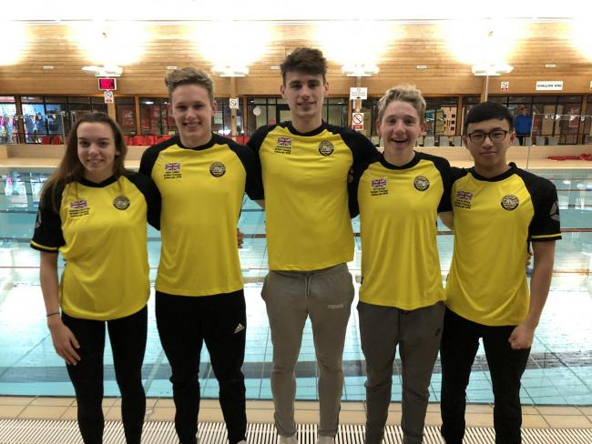 FAMOUS FIVE: Poole's Edinburgh contingent (left to right) Jazz McCrea, Matt Collins, Jacob Peters, Oli Fairman and Kelvin Wong