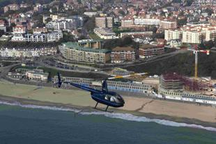 SKY HIGH? Developing the Boscombe Overstrand will be more expensive than was thought Picture: Richard Crease with help from Bournemouth Helicopters