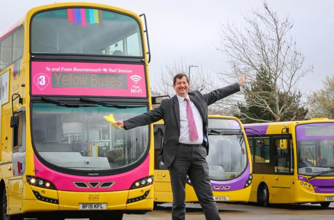 yellow buses launch revised network across the region bournemouth echo