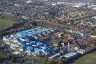 Picture taken with thanks to Bliss Aviation. The Royal Bournemouth Hospital site.
