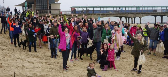 Plastic Free Bournemouth's first community pier to pier beach clean