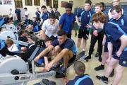 Harewood College rowers rowing the distance of Bournemouth to Trafalgar Square to raise money for the Stephen Lawrence Charitable Trust