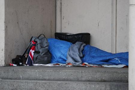 A homeless person sleeping in Bournemouth. File picture.