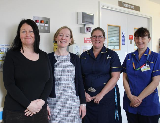 Debbie Branney, Elaine O'Shea, Cathy MacKinney and Alison Thomas from the Acute Pain Team