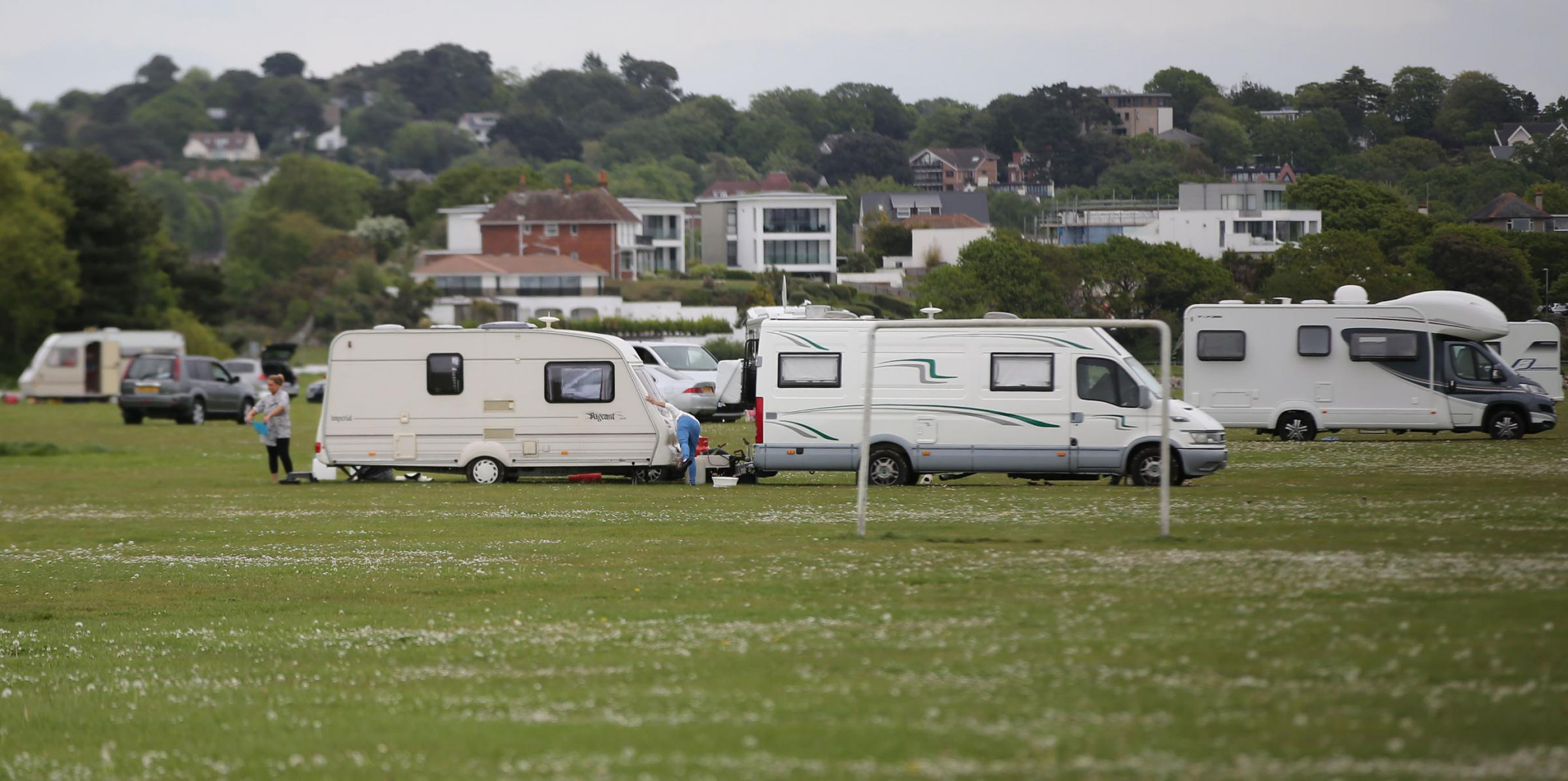 Travellers move onto Baiter Park in Poole