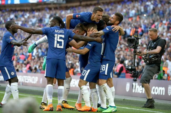 Chelsea's Eden Hazard (10) celebrates (John Walton/EMPICS)