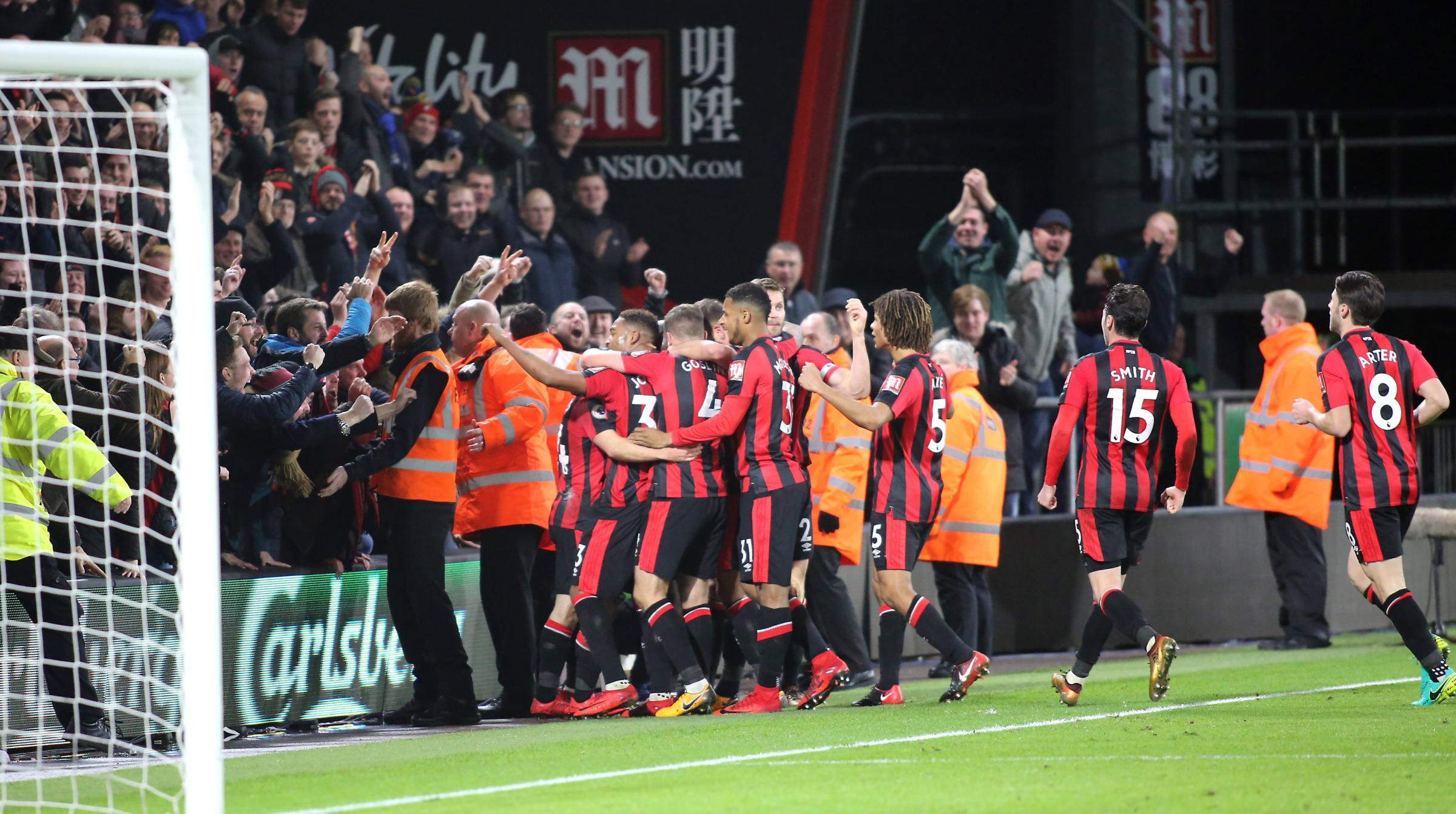 AFC Bournemouth v Everton in Premier league at Vitality Stadium..