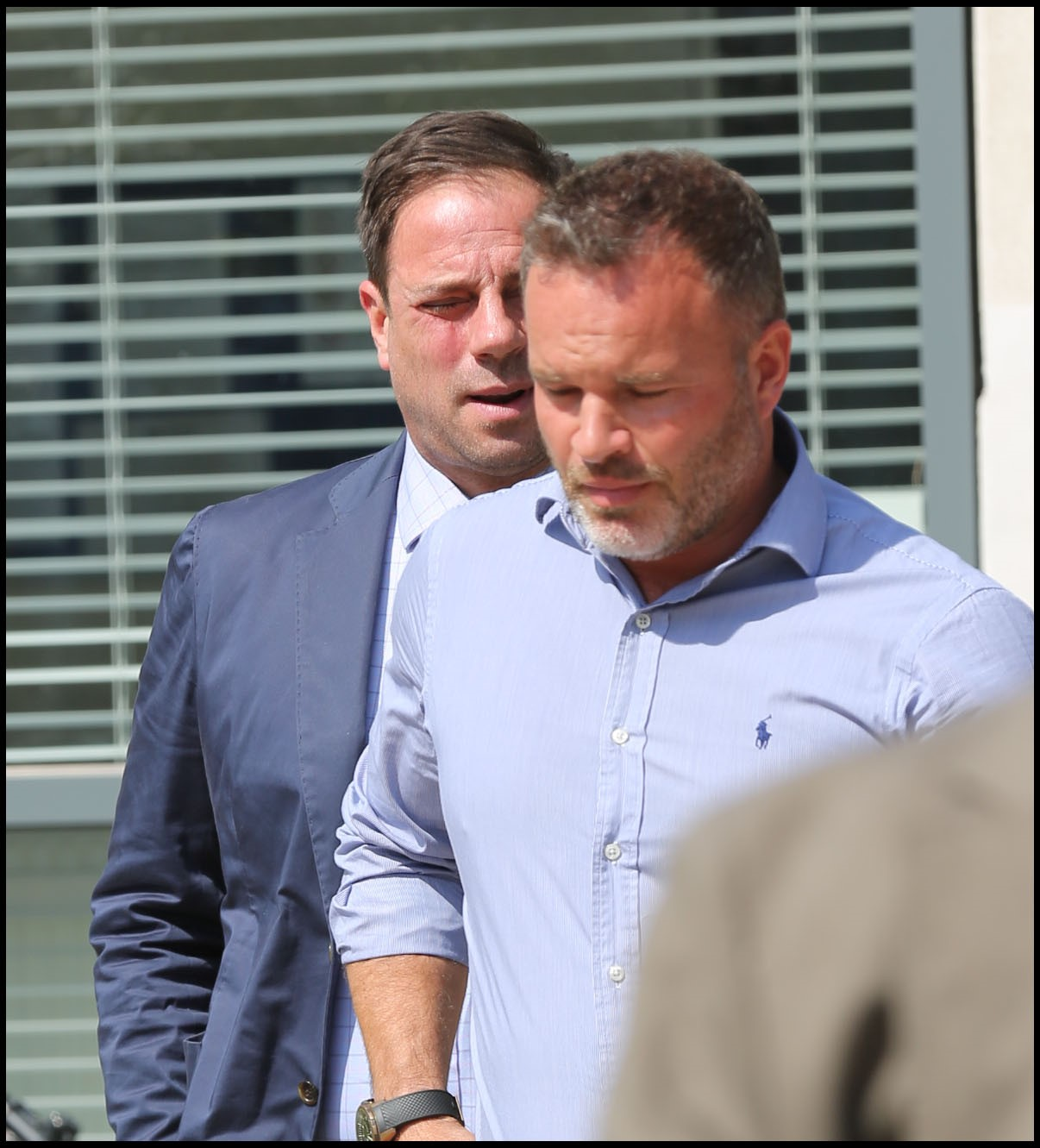 Mark Redknapp, pictured left, at Poole Magistrates Court