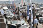 Crowds flock to Poole Quay for the Poole Harbour Boat Show
