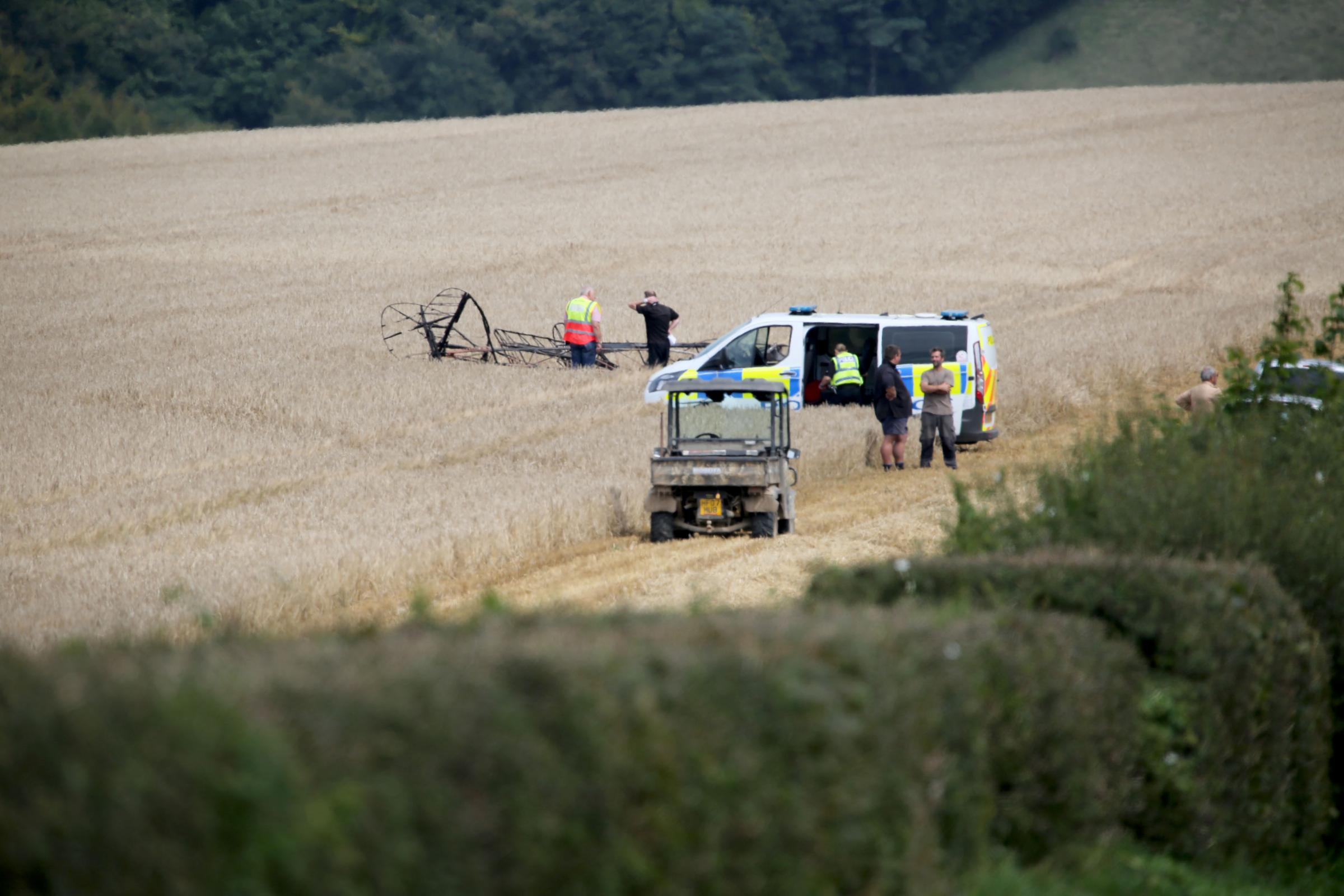 The Tiger Moth crashed near Compton Abbas