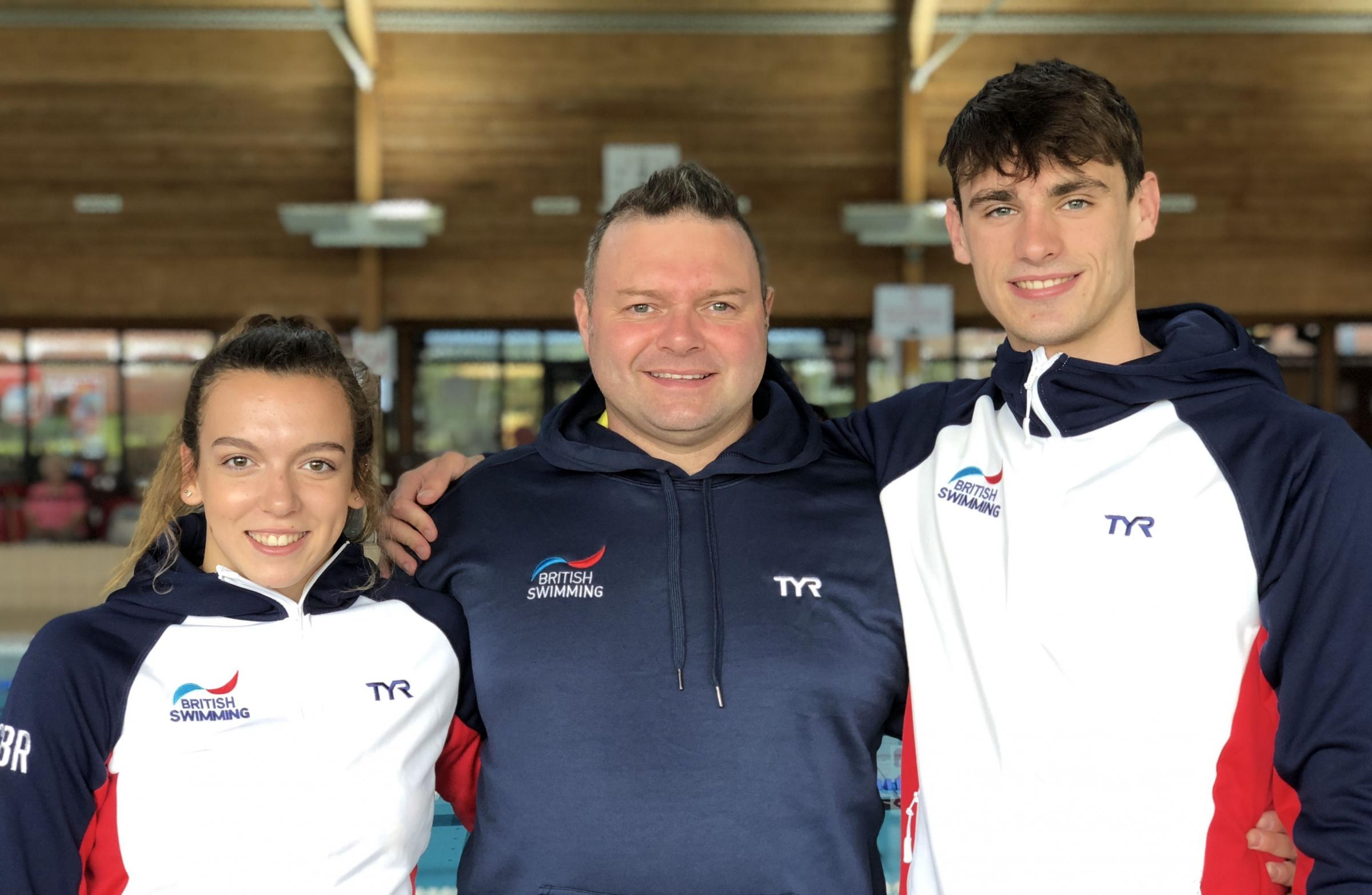 GB CALL-UP: Poole's Jazz McCrea, Barry Alldrick and Jacob Peters in their GB kit