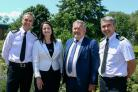From left to right, Devon and Cornwall Chief Constable Shaun Sawyer, Devon and Cornwall police and crime commissioner Alison Hernandez, Dorset police and crime commissioner Martyn Underhill and Dorset Chief Constable James Vaughan