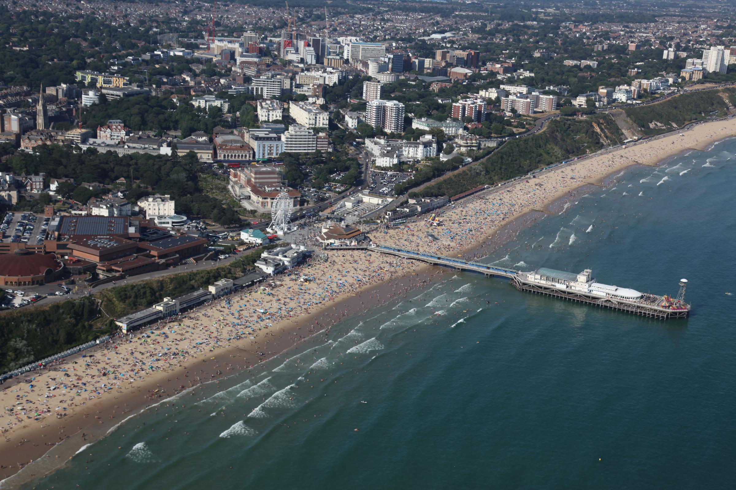 Bournemouth Pier and beach. Picture by Gary Ellson of Bliss Aviation.