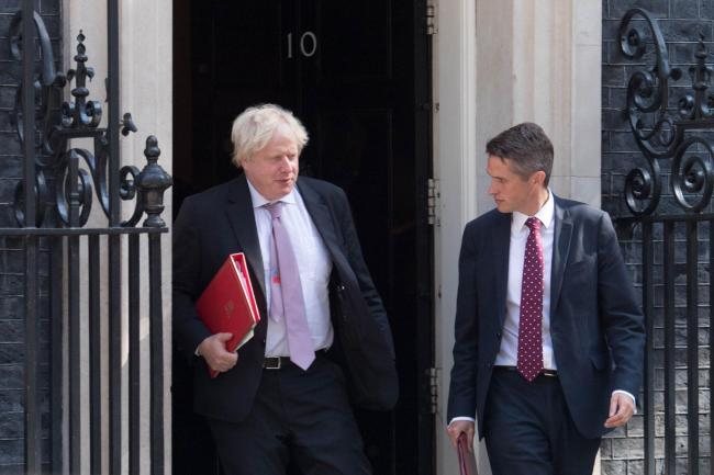 Foreign Secretary Boris Johnson and Defence Secretary Gavin Williamson. Photo credit should read: Stefan Rousseau/PA Wire.