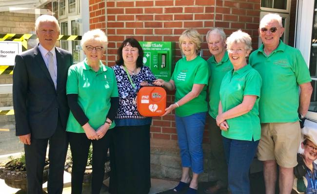 Members of the Swanage Community Defibrillator Partnership