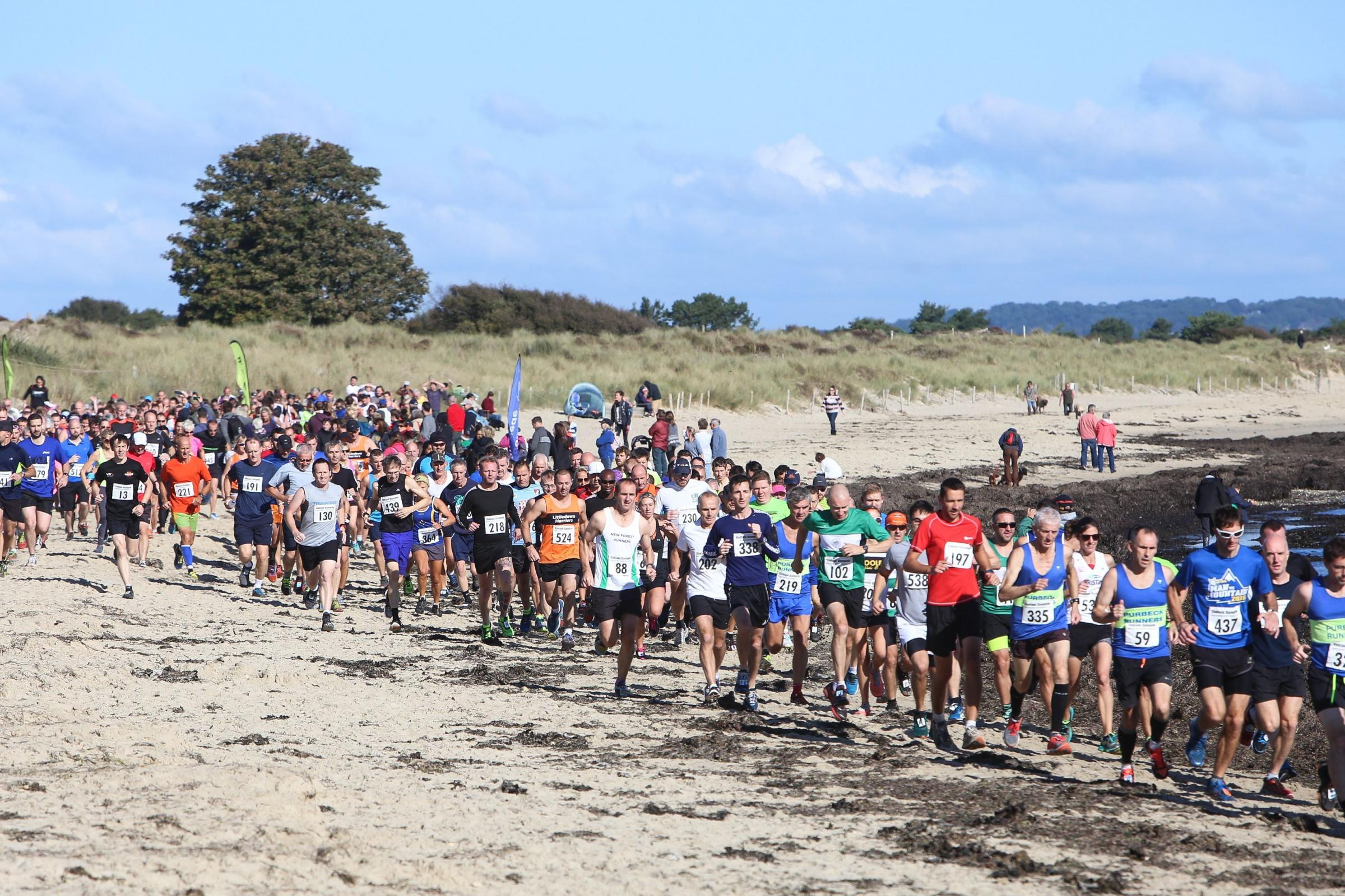 The 12th annual Studland Stampede 12k run..