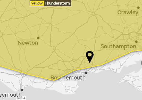 The Met Office warning that's been issued for July 13