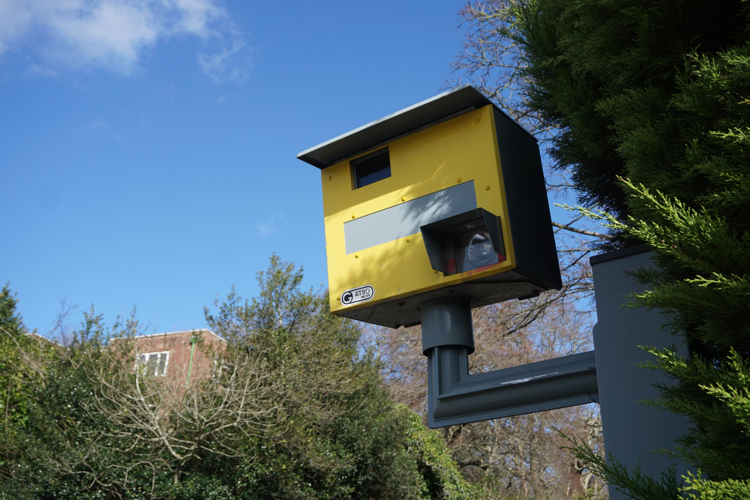 'Grey' speed camera on Wessex Way turns yellow again after clean