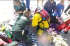 Man with spinal injury evacuated from beach