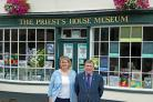 Priest's House Museum director Emma Ayling and Priest's House Museum Trust chairman David Morgan