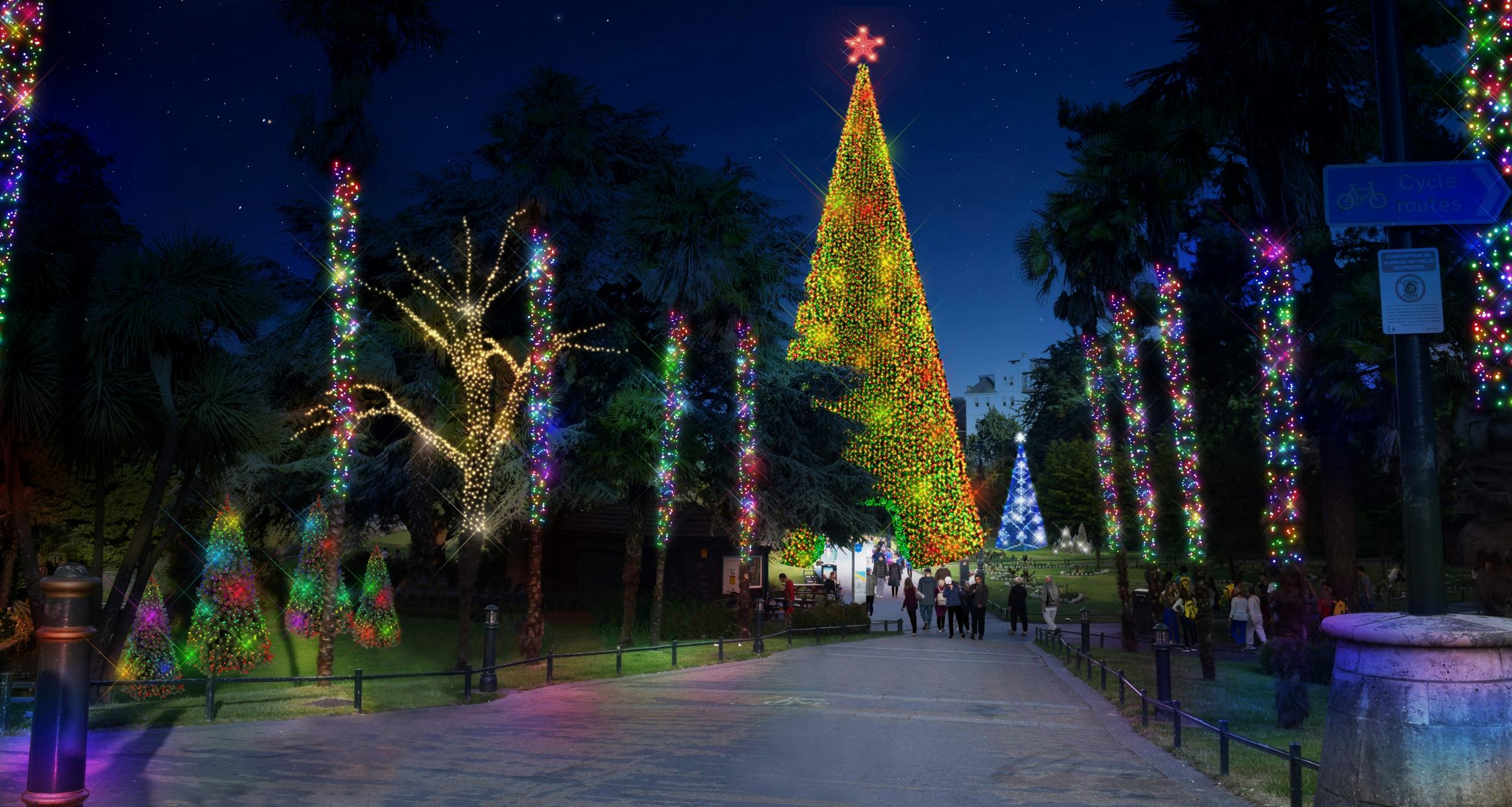 A 60ft Walk Through Tree With 30,000 Lights: Whatu0027s Planned For  Bournemouthu0027s Christmas Tree Wonderland