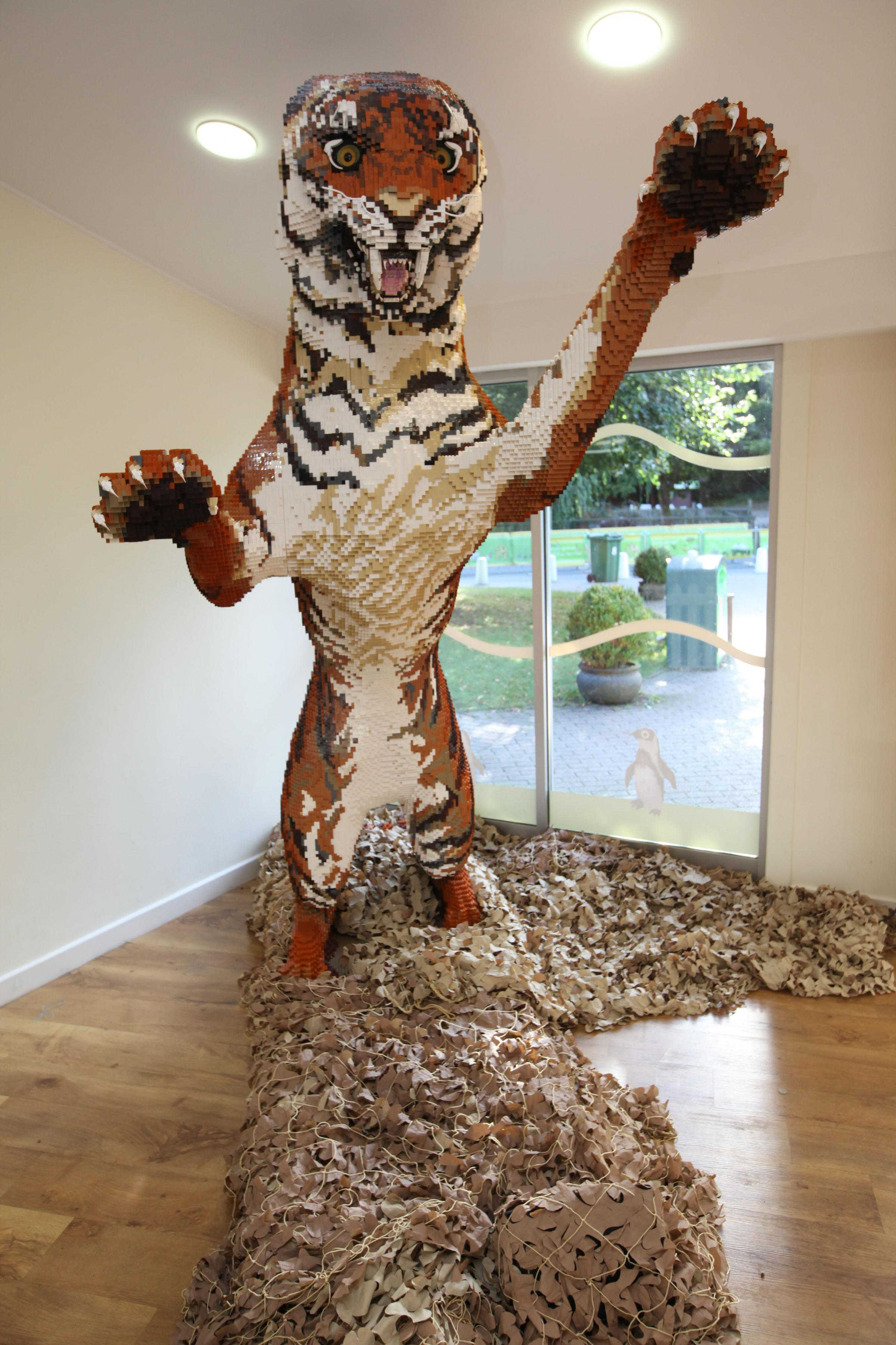 How are Lego sculptures in full size 46