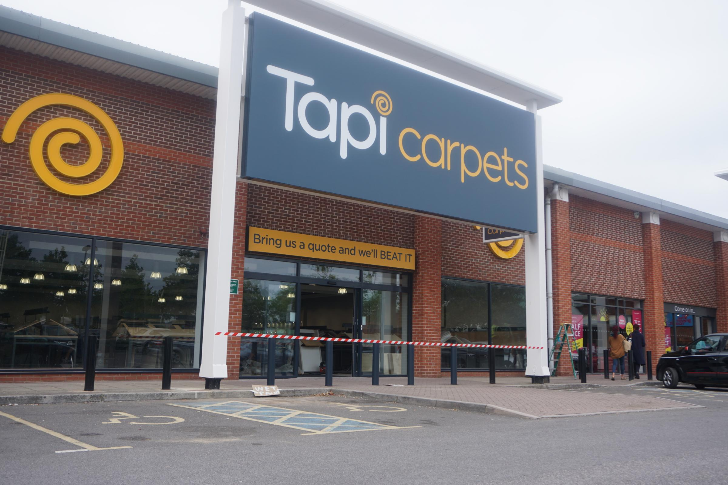 The new Tapi Carpets store set to open at the retail park of Barrack Road in Christchurch