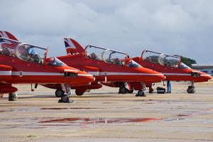 The Red Arrows visited Bournemouth Airport at the weekend. Click to see more pictures.