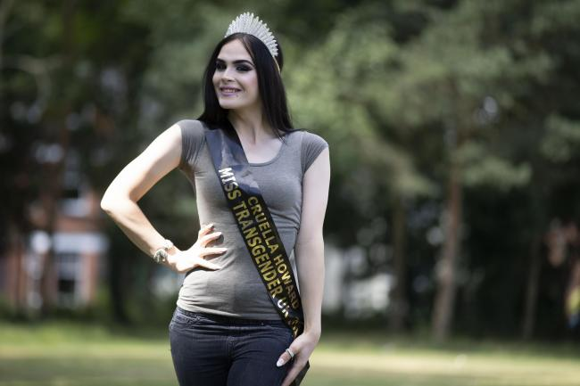 Cruella Howard who is taking part in the 2018 Miss Transgender UK contest..