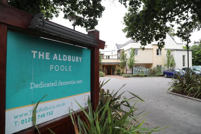 The Aldbury dedicated dementia care home at Ringwood Road in Poole..