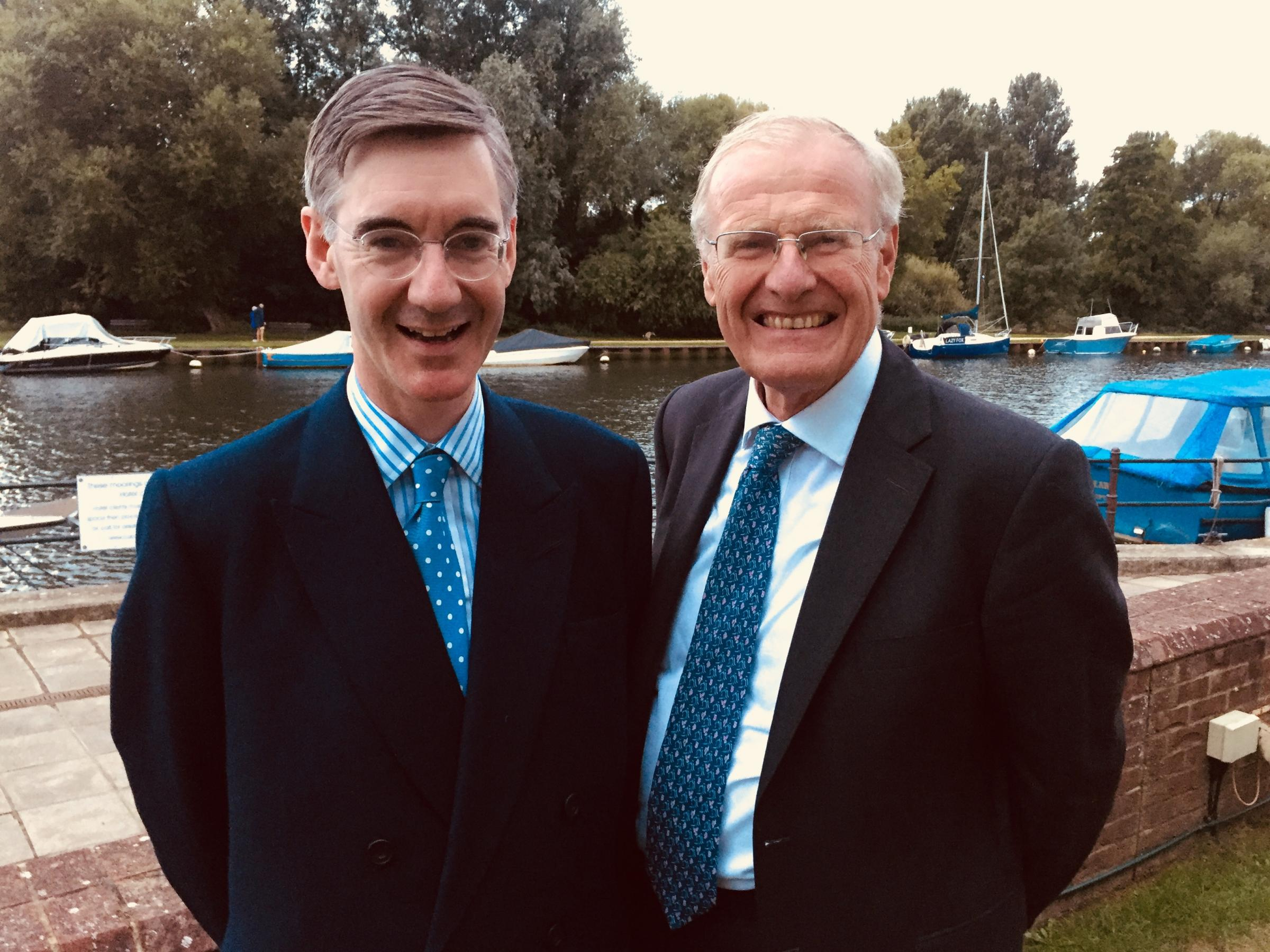 Conservative MPs Jacob Rees-Mogg and Sir Christopher Chope