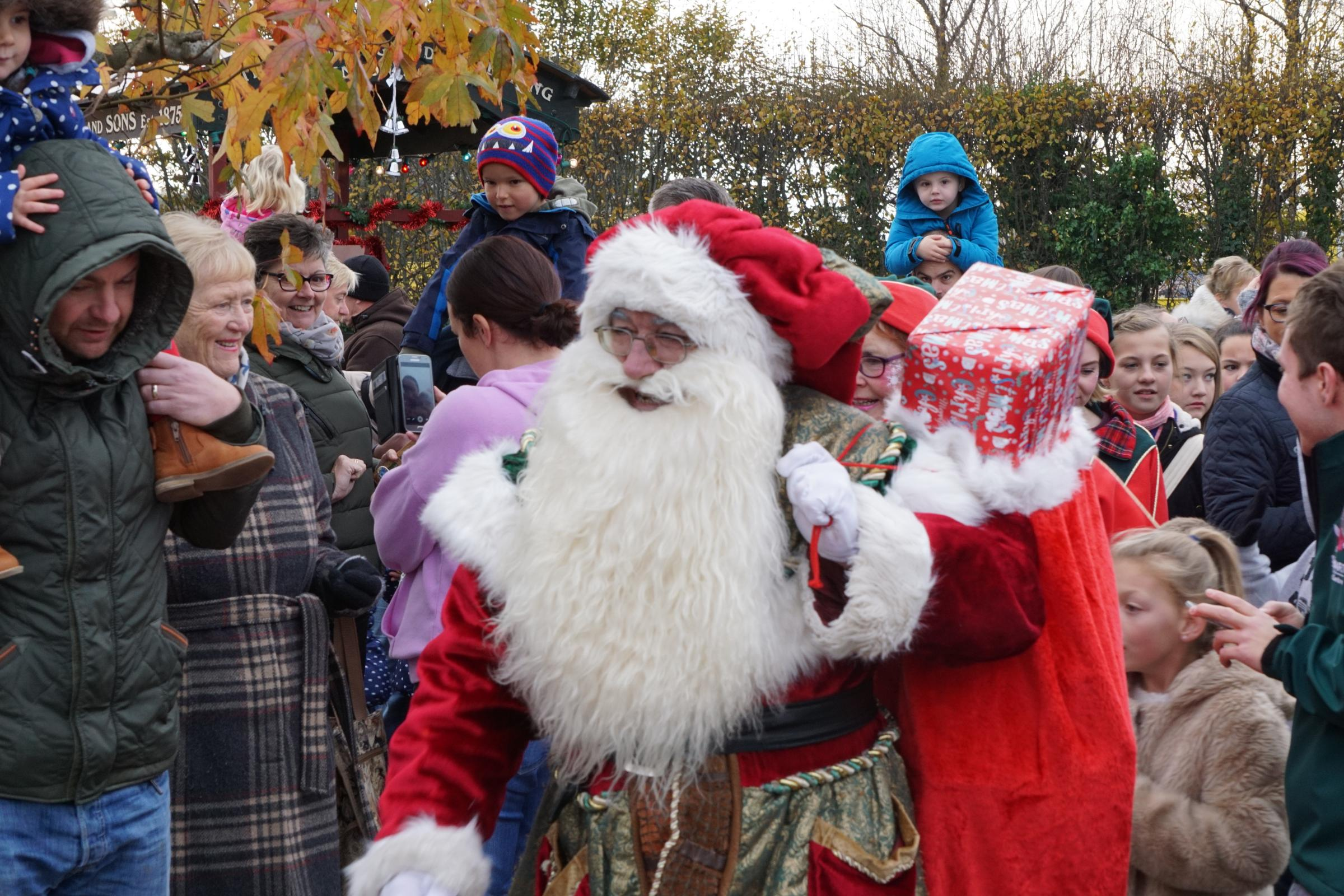 Father Christmas will be meeting youngsters across Dorset