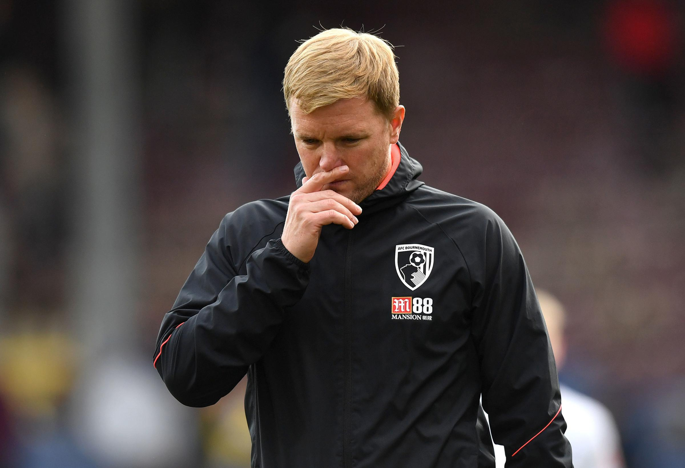 PLENTY TO PONDER: Cherries boss Eddie Howe after seeing his side defeated 4-0 at Turf Moor (Picture: Anthony Devlin/PA Wire)